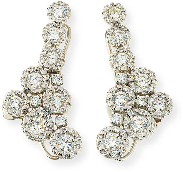 Yeprem 18K White Gold and Diamond Climber Earrings, Neiman Marcus, $10,800