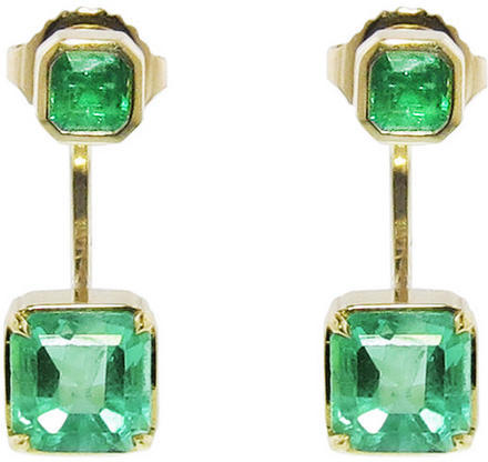 Jemma Wynne Columbian Emerald Ear Jackets, Ylang 23, $7,140