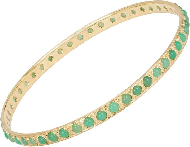 Irene Neuwirth, 18k gold bangle studded with round chrysoprase cabochons. Barney's New York, $4,620