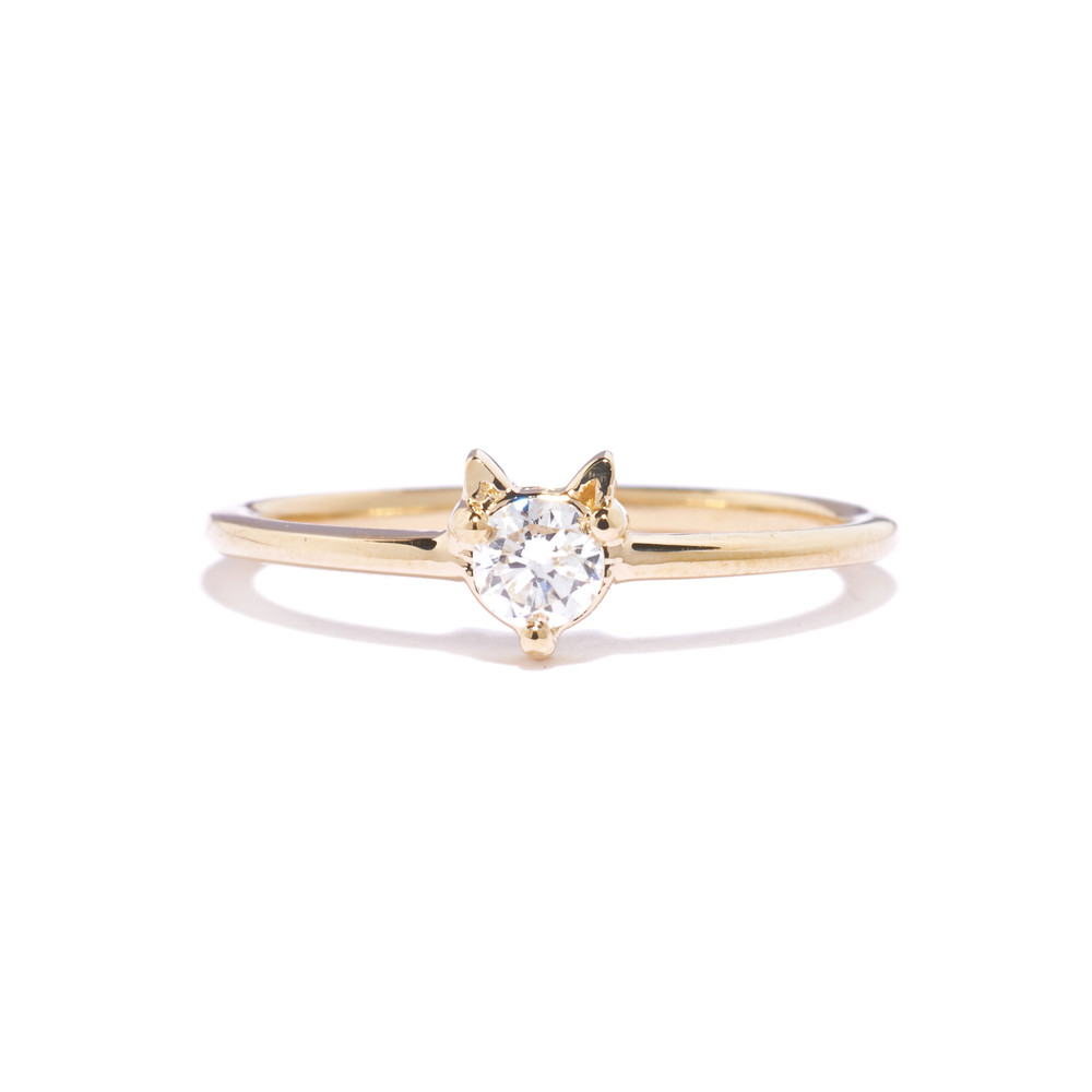 Tiffany Chou Sawyer Cat Ring,in 14K Gold and Diamond, TiffanyChou.com