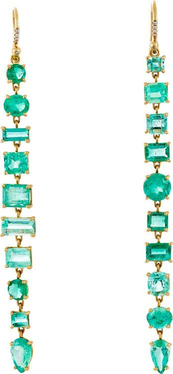 Irene Neuwirth, Emerald Long Drop Earrings, Barneys NY $13,780