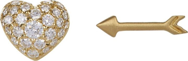 Finn 18k Gold and Diamond stud earrings, Barneys New York, $2,350