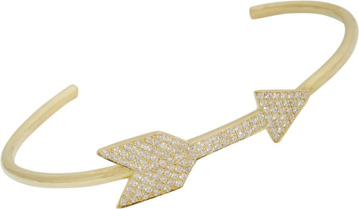 Jennifer Meyer 18K Gold and Diamond Arrow Bangle, Barneys New York, $7,800