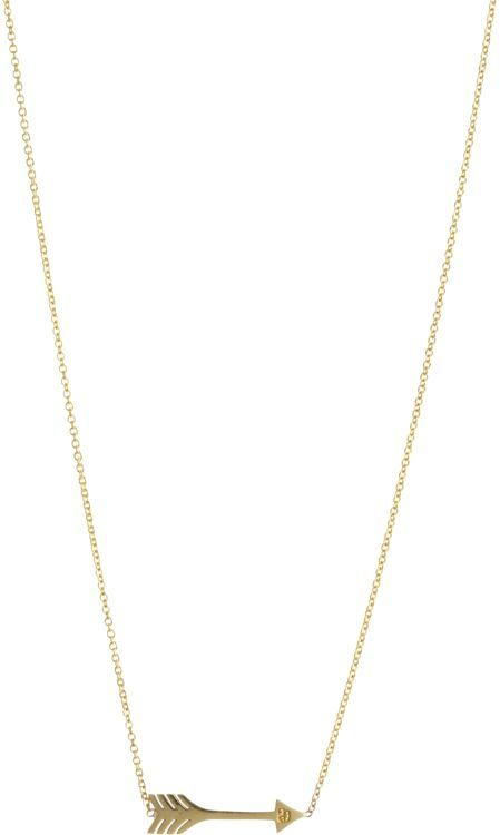 Jennifer Meyer 18k Arrow Pendant on 14k gold chain, Barneys New York, $525