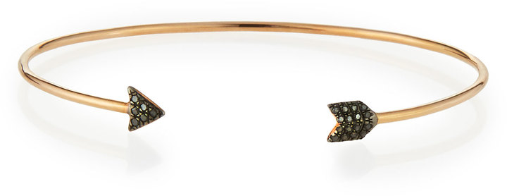Diane Kordas 18k rose gold bangle with Black Diamonds, Neiman Marcus, $1,560