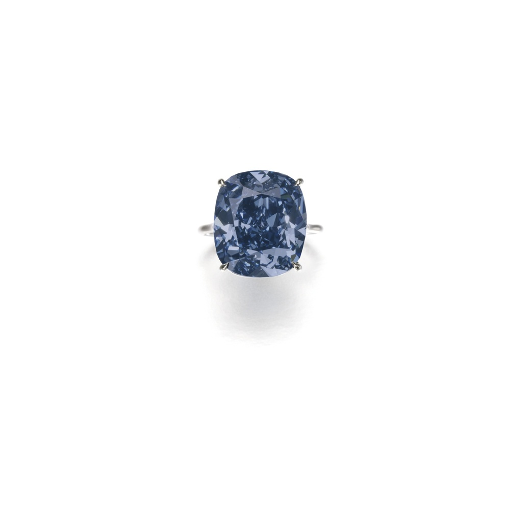 Lot 513: The Blue Moon Diamond, PHOTO: Sotheby's