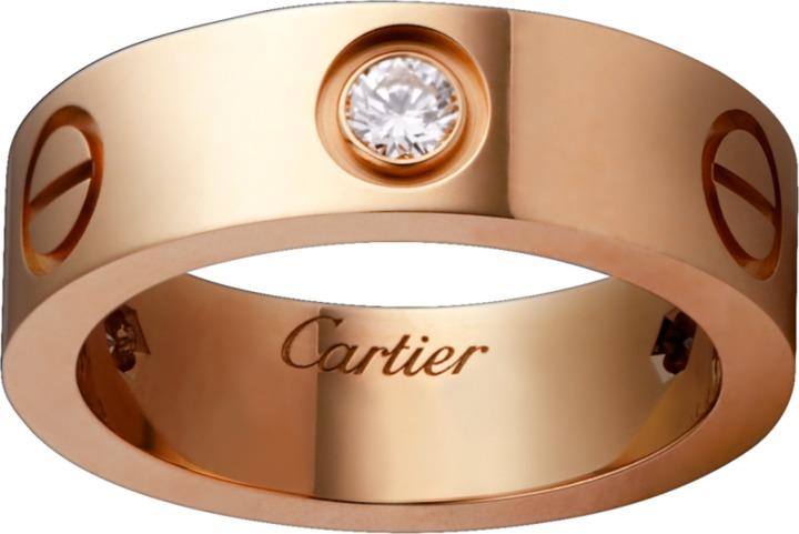 Cartier Love Ring, 18k Rose Gold & Diamonds, TrueFacet $3,400