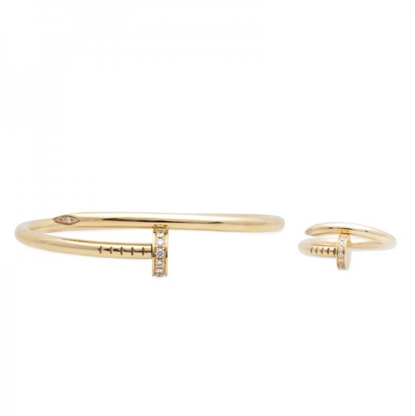 Cartier Juste Un Clou Bracelet and Ring Set, 18K Yellow Gold and Diamonds, TrueFacet, $14,150
