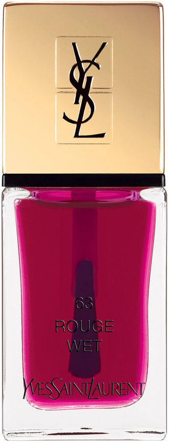La Laque Couture Pop Water Collection, Color: 68 Rouge Wet, YSL, $27