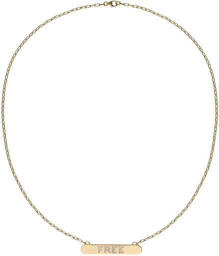 "Jennifer Fisher ""Free"" Tag Necklace"