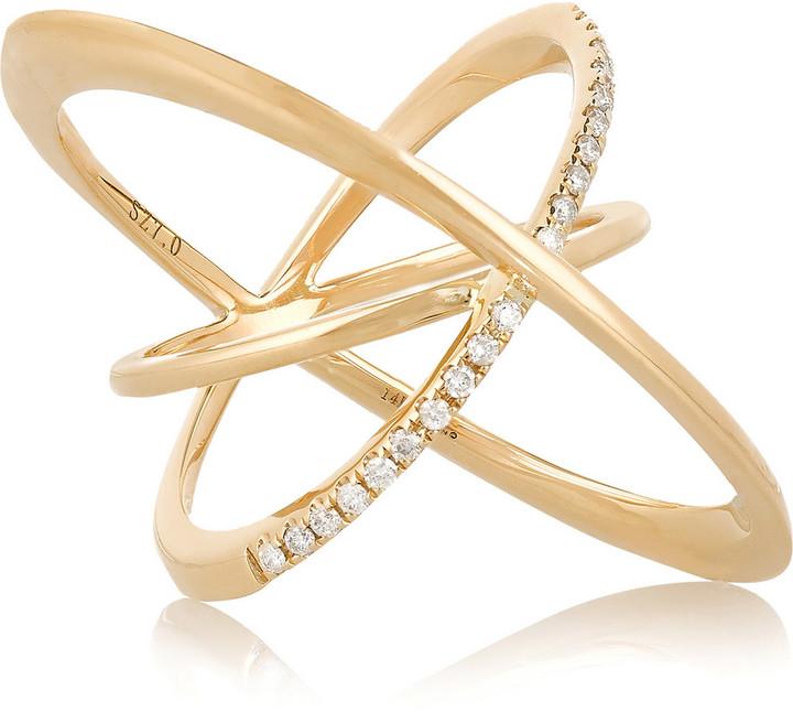 Lynn Ban Orbit 14K Gold and Diamond Ring, Net-A-Porter.com, $2,100