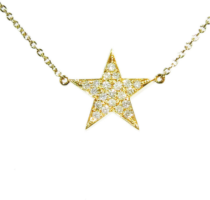 Jennifer Meyer Diamond Lucky Star Necklace - Yellow Gold, Ylang 23, $1,600
