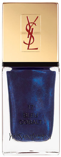 La Laque Couture Pop Water Collection, Color: 17 Bleu Cobalt, YSL, $27
