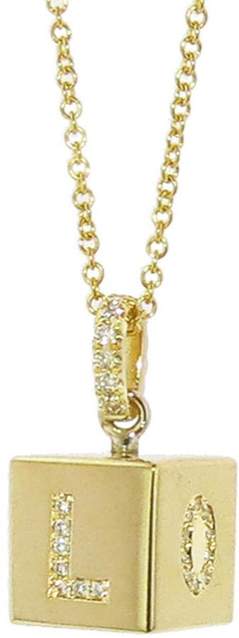 Jennifer Meyer LOVE Cube Necklace, Ylang23,$3500