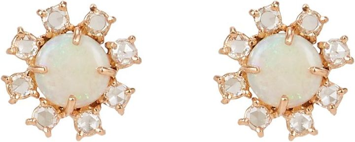 Irene Neuwirth Gemstone Floral Studs, Barneys New York