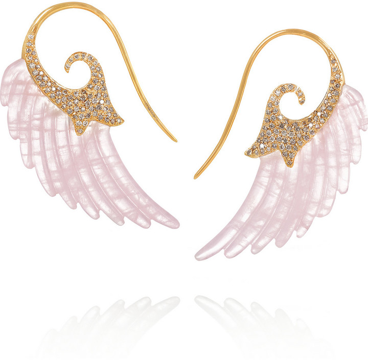 Noor Fares Wing Earrings 18K Gold, Net-A-Porter