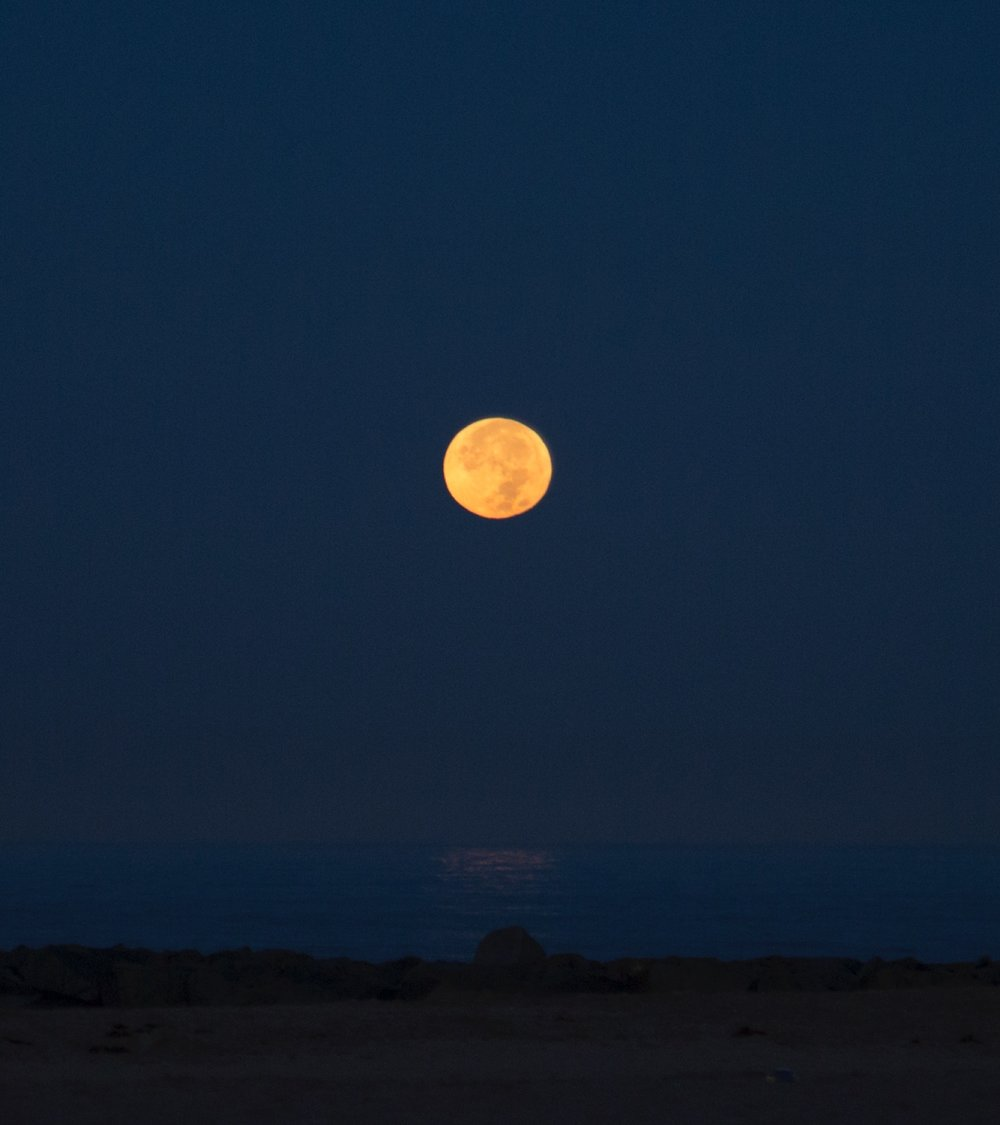 Supermoon shot in Newport Beach around 5:45 AM. Photo Credit: @kates808