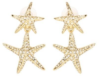 Oscar De La Renta Crystal-Embellished Starfish Earrings, $428