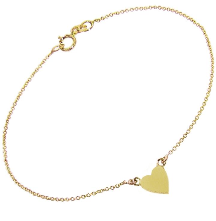 JENNIFER MEYER HEART BRACELET - YELLOW GOLD, $600