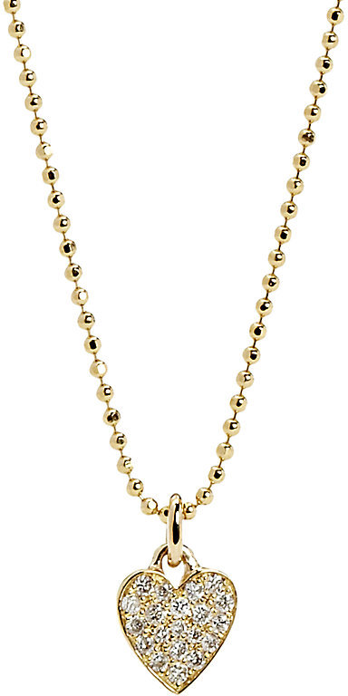 JENNIFER MEYER WOMEN'S PAVÉ DIAMOND HEART PENDANT NECKLACE, $1675
