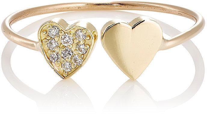 JENNIFER MEYER WOMEN'S TWO-HEART CUFF RING, $750