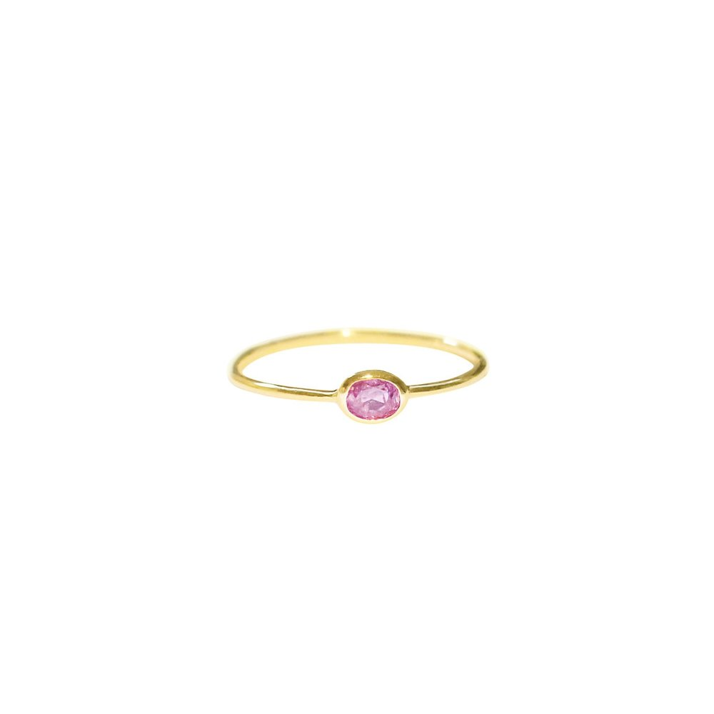 Natural Light Fancy Pink Diamond Ring by Kate Alexandra Jewelry, $550