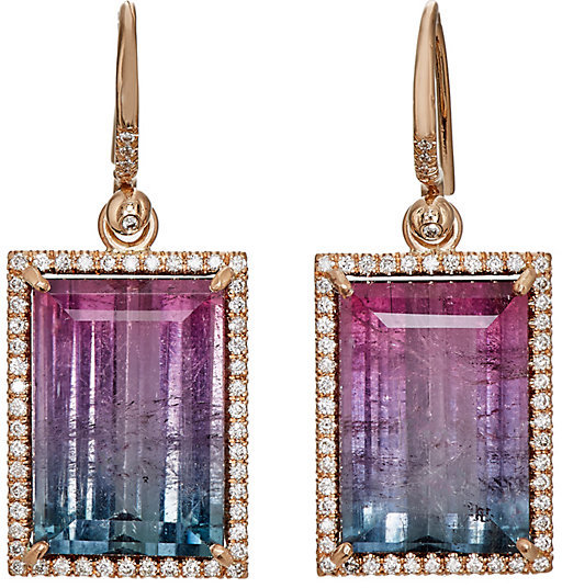 IRENE NEUWIRTH WOMEN'S TOURMALINE DROP EARRINGS