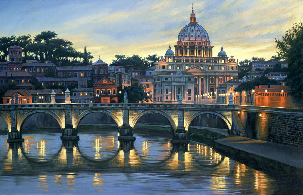 An Evening In Rome by Alexei Butirsky // Dolphin Galleries Inquire