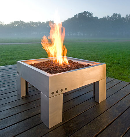 architect gas firepit outdoor fireplace