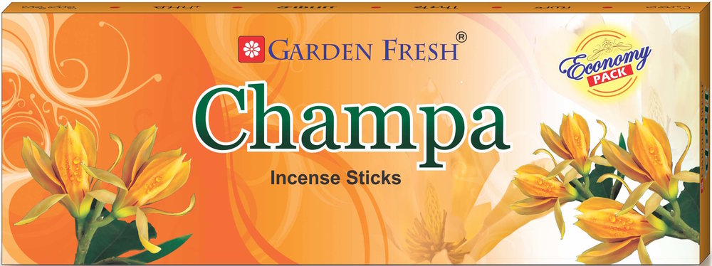 Champa - Also known as Champak, this flower is is known for its rare and strong fragrance. Garden Fresh brings to you a refreshing and relaxing Champa fragrance that will definitely leave an impression.Net contents: 100 grams