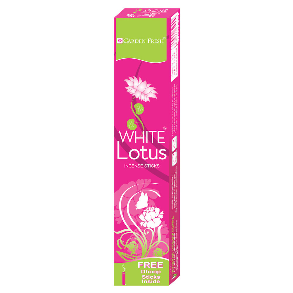 WHITE LOTUS   White Lotus symbolises complete purity. Use White Lotus incense to start your day with pure thoughts and actions.   Net weight: 115 grams