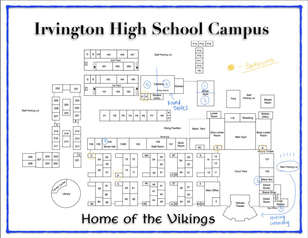 Irvington High School Campus Map | autobedrijfmaatje