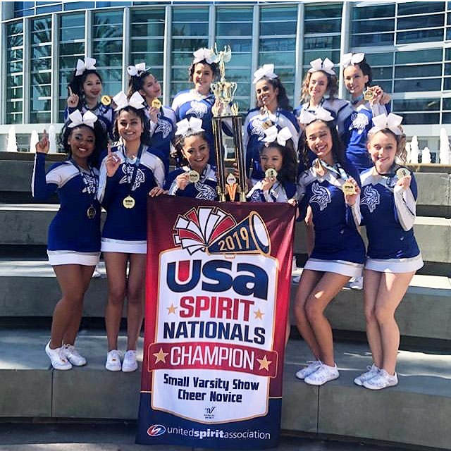 Congratulations to Irvington's Competition Cheer Team for winning 1st place and being crowned as the 2019 National Champions in Anaheim at the USA Nationals!