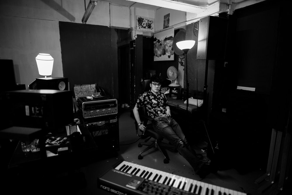 Tomii Chan in his Studio. Hong Kong. 2018
