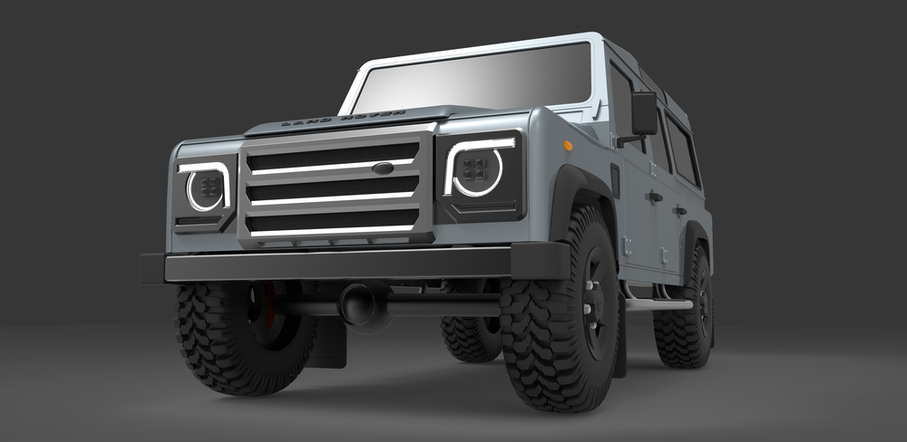 Defender lighting concept frost the new concept design for the back end of the landrover defender would replace all rear light and number plate mounting points aloadofball Choice Image
