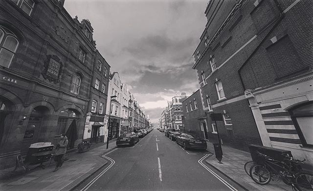 Allitsen Road #Wideangle #blackandwhite #stjohnswood #shotonmoment #iphoneography #iphone7plus #shotoniphone
