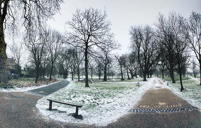 Snow! #London #RegentsPark #Snow #UK #Morning #photography #iphone7plus #iphoneography #shotoniphone
