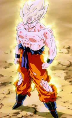 Son Goku in his Super saiyan form in the television series dragon ball z