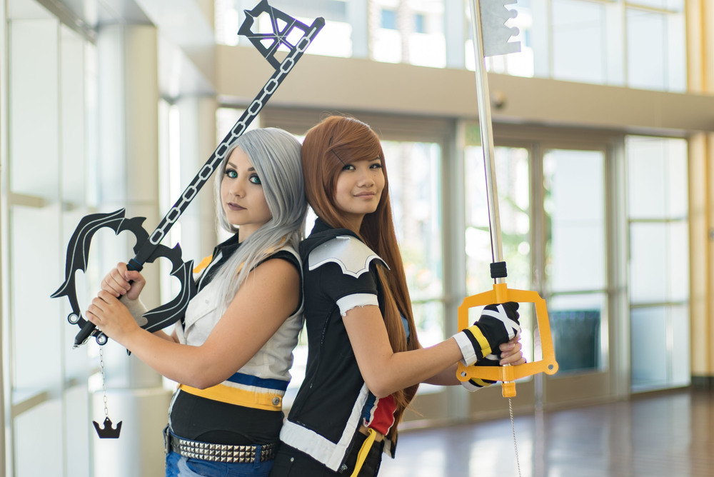 cosplayers from left to right:  Karli  and  xlosuh