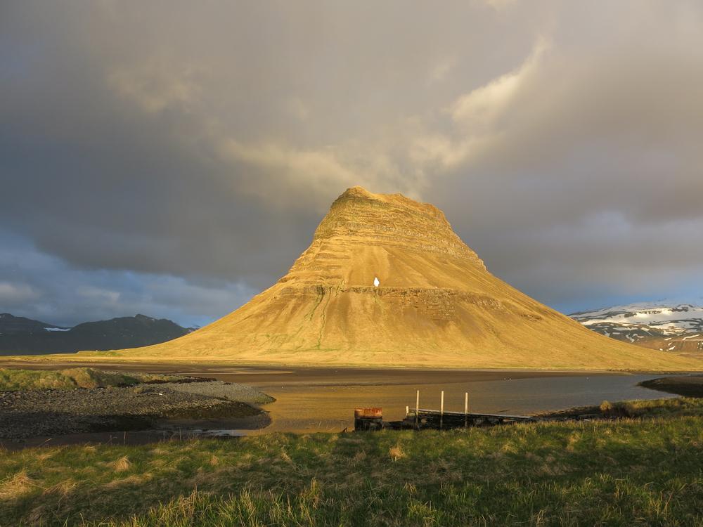 Mount Kirkjufell in Summer