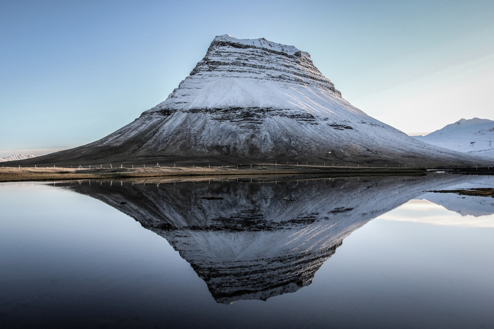 Mount Kirkjufell in Winter