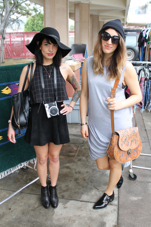 Had the pleasure of meeting two rad fashion designers visiting from Boston who braved an LA rainy day in style.  –  Melrose Trading Post  Los Angeles, Ca  Neighborhood: Melrose