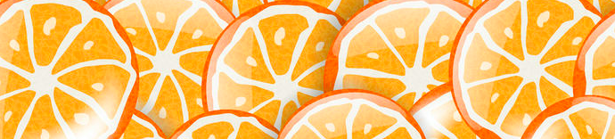 Orange media animation orange slices