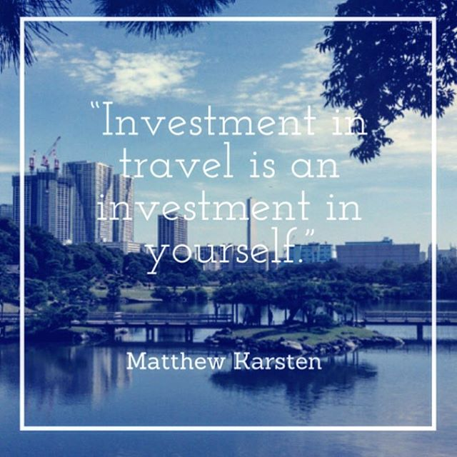 Invest in yourself, invest in travel #travel, #tokyo, #japan #startup, #app http://www.anchorup.jp @ExpertVagabond