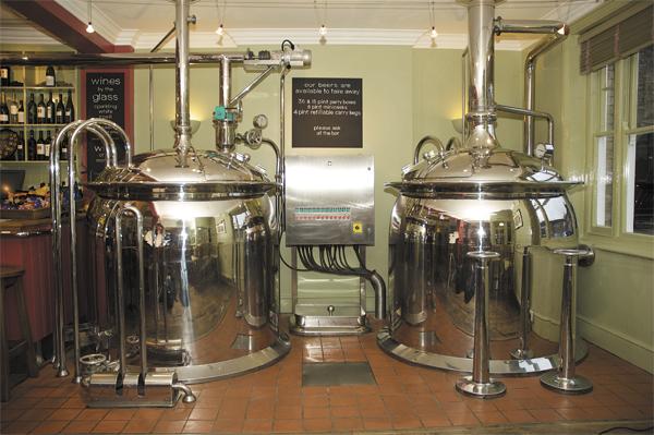 Mash Tun and Boiler
