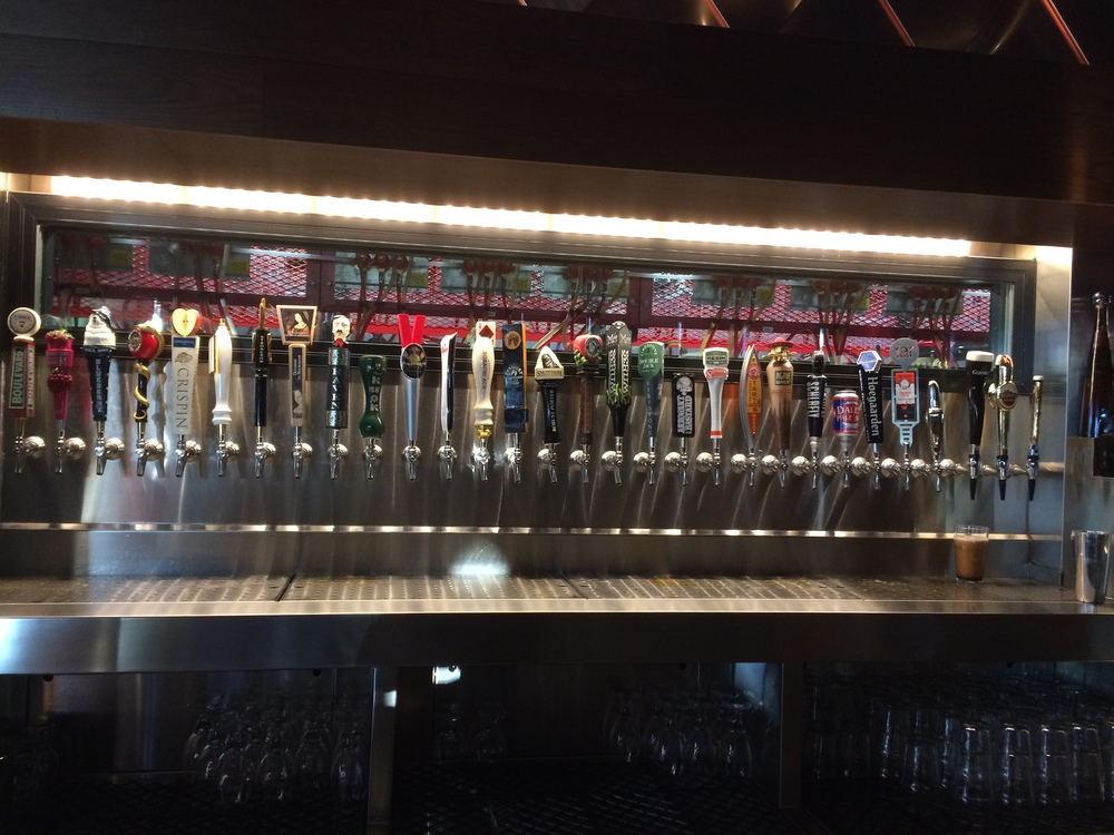 A small selection of the taps available at The Old Pour House in Gaithersburg, Maryland