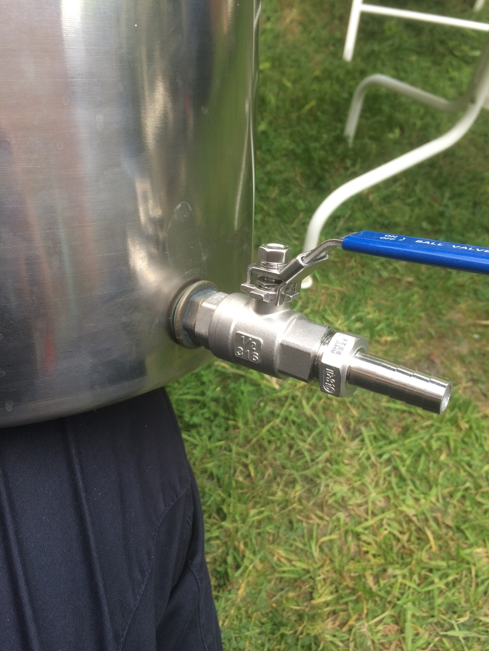 The fitted ball valve