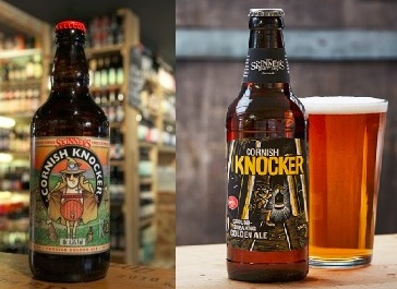 The old and new Cornish Knocker branding