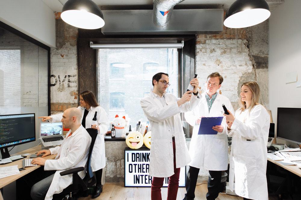 The IntelligentX Brewing Co team