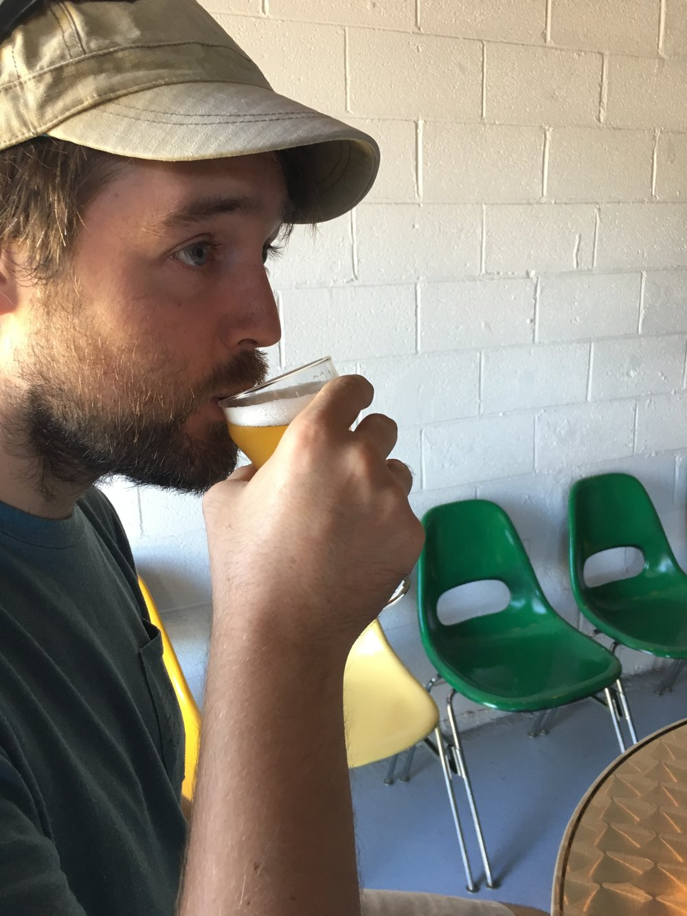 Me enjoying the thoroughly delicious Hopostolic Succession - Dry Hopped Saison